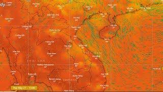 Dự báo thời tiết 27/4 : Mưa giông ở Bắc Bộ và bắc Trung Bộ