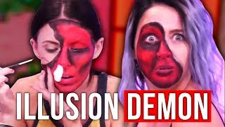 Illusion Demon Makeup Tutorial Halloween FAIL (Beauty Break)