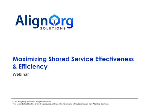 Maximizing Shared Service Effectiveness and Efficiency