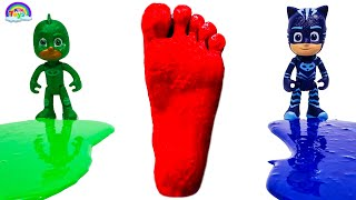 Learn Colors With PJ Masks | Feet Painting | Super Cars | KiKi Toys