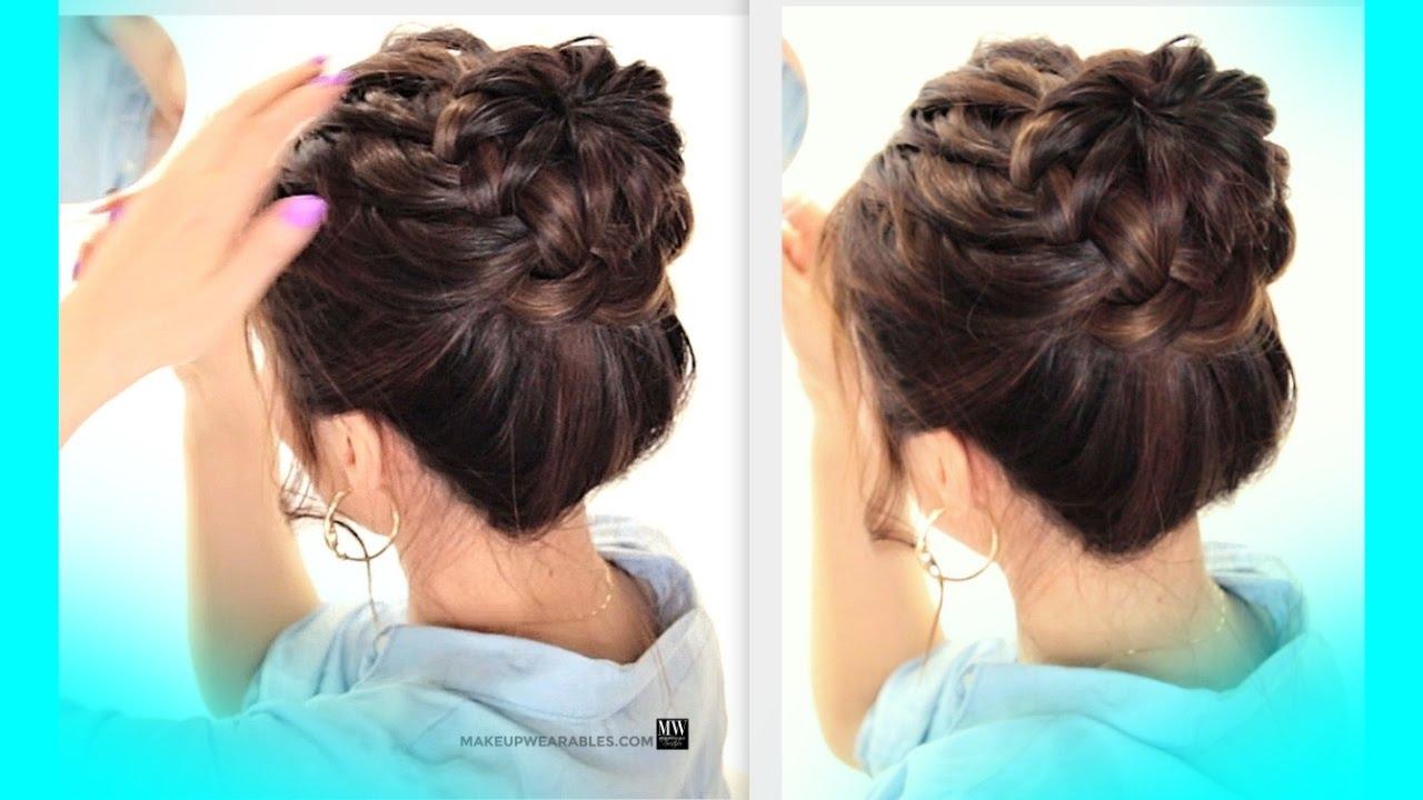 Summer Hair Style: ★STARBURST BRAID BUN HAIRSTYLE