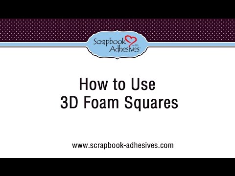 How to Use 3D Foam Squares (no text)