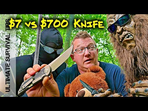 Bigfoot / Knife Ninja and the $700 Samurai Folder - $7 vs. $700 Blade - Best Folding Pocket Knife?