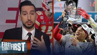 Nick Wright celebrates Kansas City Chiefs 1st Super Bowl win in 50 years | NFL | FIRST THINGS FIRST