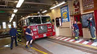 FDNY Battalion 43 and Tower Ladder 161 get toned to the same run