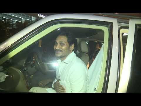 Visuals of AP CM YS Jagan arriving at Delhi Airport