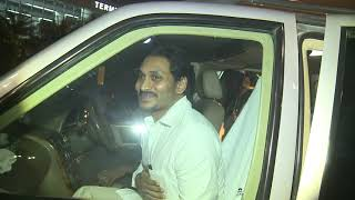 Visuals of AP CM YS Jagan arriving at Delhi Airport..
