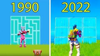 Evolution of Fortnite Battle Royale 1990-2020