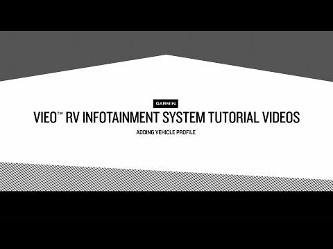 Vieo RV Infotainment System Tutorial Videos – Adding Vehicle Profiles