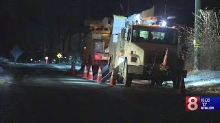 Crews working around the clock in frigid temps to restore power in Bethany