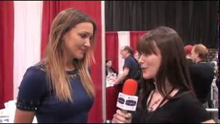 Katie Cassidy talking about Arrow, her upcoming movie, and her fashion blog at Motor cCity Comic Con