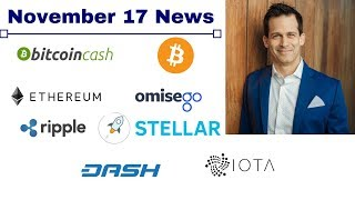 cryptocurrency news update - BTC, BCH, XRP, XLM, OMG, Dash and more