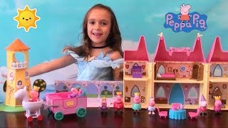 Peppa Pig: Compilation Princess Peppa Pig Once Upon a Time Toys with Princess Peppa and Royal Family