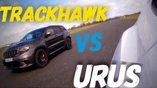 DRAG RACE : Lamborghini URUS VS Jeep Trackhawk