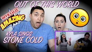 Stone Cold - Demi Lovato (cover) by Kyla (COUPLES REACTION)