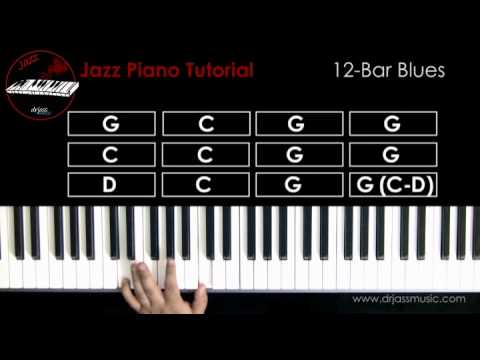 DRJASSMUSIC Jazz Piano Tutorial - 12-bar Blues (English)