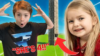 4 YEAR OLD SISTER CRANKING 90S! Youngest EVER in Fortnite! *INSANE*