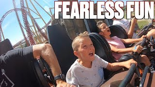 SIX-YEAR-OLD KID FOLLOWS IN HIS BROTHER'S FOOTSTEPS | CONQUERS TERRIFYING ROLLER COASTER