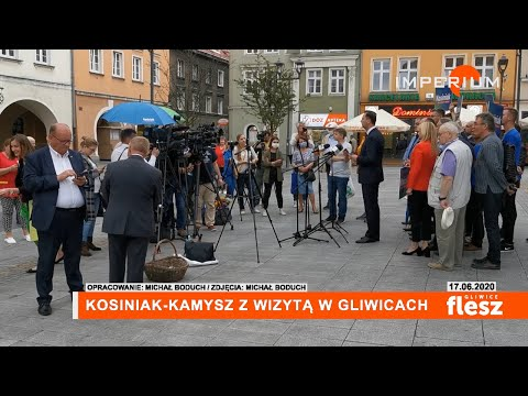 Flesz Gliwic / Kosiniak-Kamysz z wizytą w Gliwicach