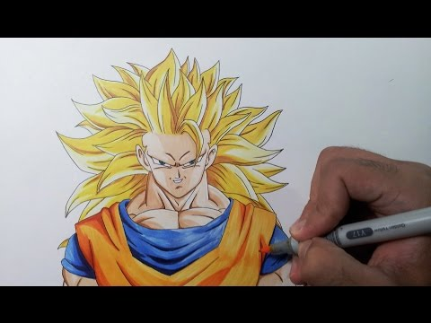 Drawing Goku SSJ3 - Super Saiyan 3