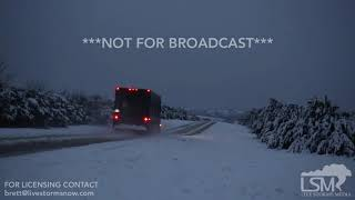 12-13-18, Road Closed Due to Accidents from Several Inches of Snow, Sweetwater TX