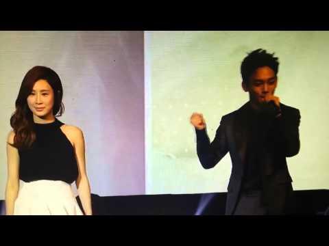 140922 장리인 쇼케이스  타오&첸 으르렁에 맞춰 춤추기..ㅋㅋ