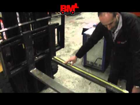 How to accurately measure your forklift truck forks