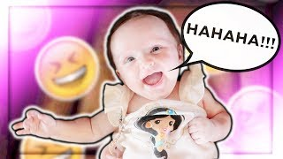 She GIGGLED!!! (Baby's First!)