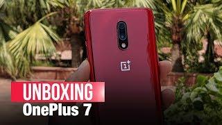 OnePlus 7 India Unit Unboxing, Upgrades vs OnePlus 6T | OnePlus 7 Red vs OnePlus 6T |Features, Specs
