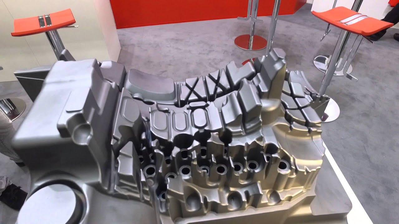 Impressionen der EUROGUSS 2016: Mit PVD-Verfahren beschichteter Kern eines Getriebegehäuses von Oerlikon Balzers.