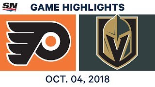 NHL Highlights | Flyers vs. Golden Knights - Oct. 4, 2018