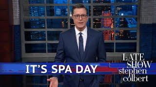 Stephen Isn't Above Doing Massage Parlor Jokes