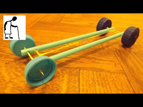 Rubber Band Powered Car 4 Toothpicks 2 Straws 4 Bottle