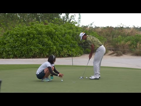 Hideki Matsuyama pre-round warm-up routine