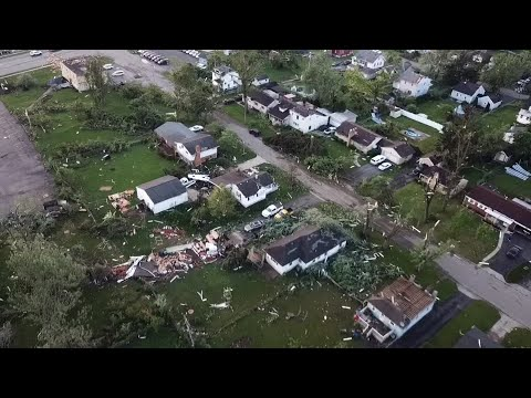 DRONE VIDEO: Damage in Harrison Twp.