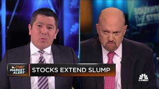 Jim Cramer on the fall in oil prices following Colonial Pipeline shutdown