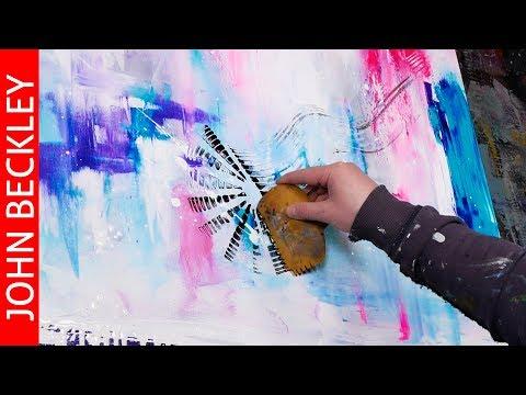 Peinture abstraite moderne – Démonstration à l'acrylique – Clouds