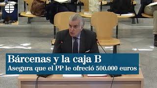 """Bárcenas asegura que el PP le ofreció 500.000 euros por modificar sus papeles para """"sembrar la duda"""""""