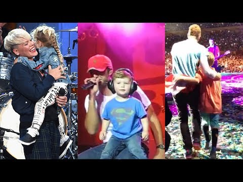12 Singers Who Brought Their Kids On Stage