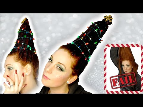 Christmas Tree Hair Tutorial - Hairstyle FAIL?