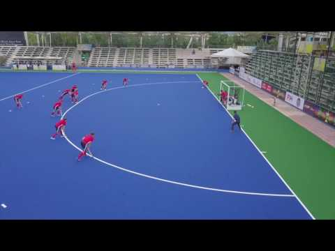 Great Britain V New Zealand Mens Hockey. Warm up match at the Sultan Azlan Shah Cup 2017