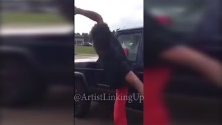 Teen Kicks car window after being called the N word