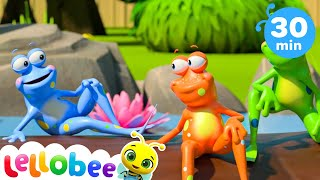 Learning Numbers - 5 Little Frogs | Baby Songs | +More Nursery Rhymes & Kids Songs | Little Baby Bum