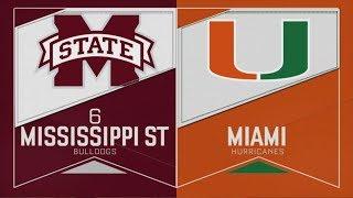 2019 NCAA Baseball Tournament Mississippi State vs Miami Fla 6 2 2019