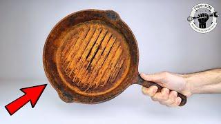 PUBG PAN Restoration - Cooking Steak on Cast Iron Pan