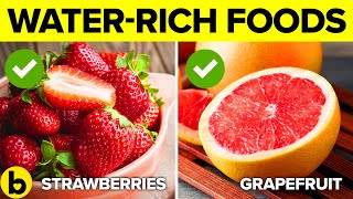 19 Water Rich Foods You Must Eat To Satisfy Your Thirst & Hunger Video HD