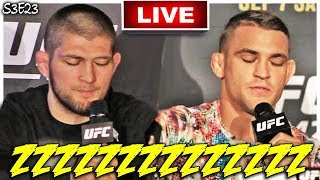 🔴KHABIB NURMAGOMEDOV AND DUSTIN POIRIER FALL ASLEEP AT THEIR OWN PRESS CONFERENCE + MMA NEWS!