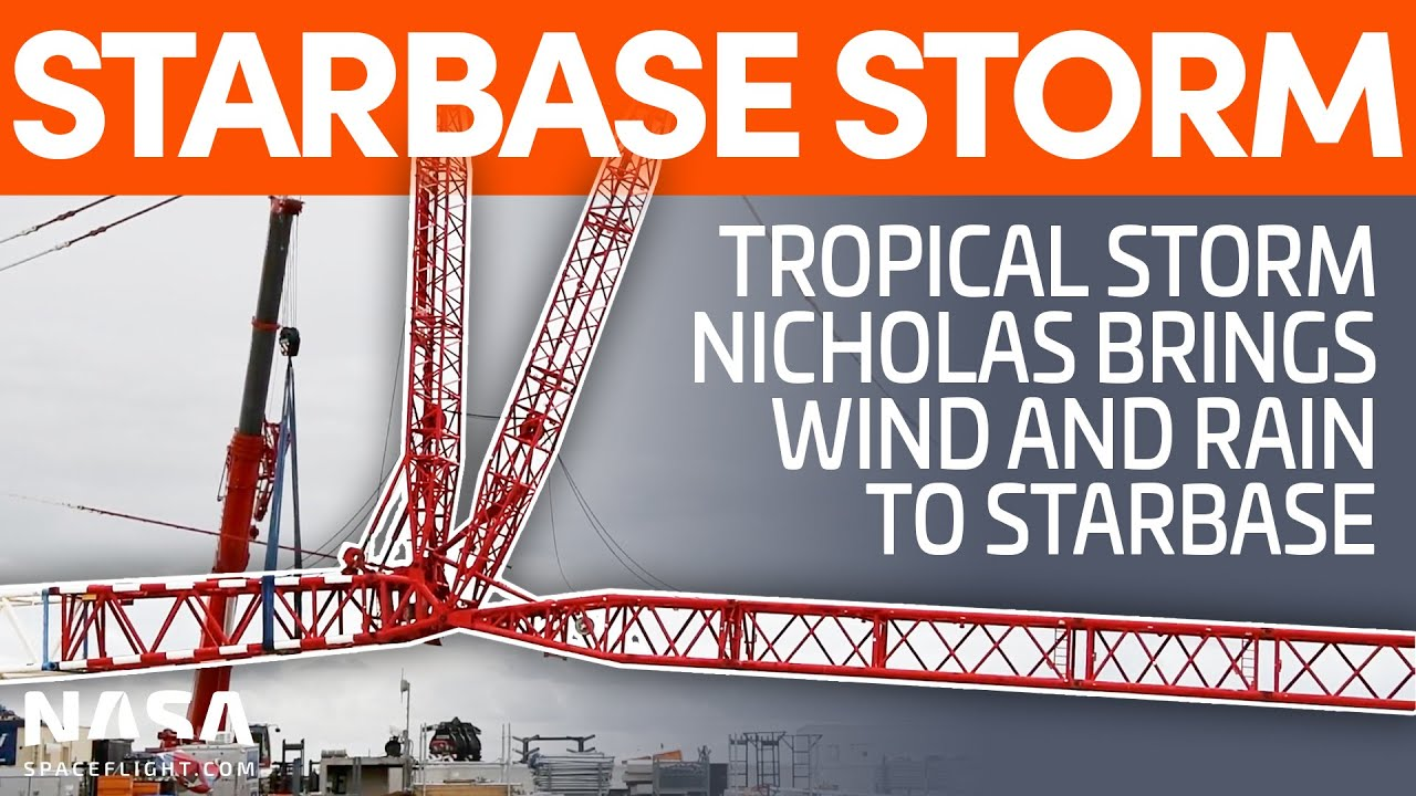 Tropical Storm Nicholas Impacts Starbase | SpaceX Boca Chica