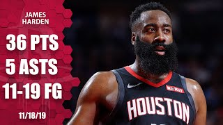James Harden tallies 36 points in Rockets vs. Blazers matchup | 2019-20 NBA Highlights