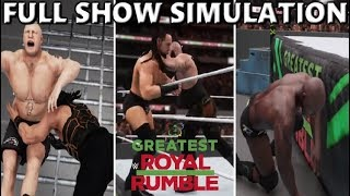 WWE 2K18 SIMULATION: GREATEST ROYAL RUMBLE 2018 FULL SHOW HIGHLIGHTS